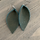 Thumbnail: Green Gold Glitter Suede Leather Earrings