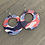 Thumbnail: Red White and Blue Camo Cork Hoop Earring
