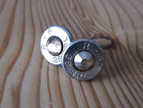 Bullet Earrings- 38 Special Clear Swarovski
