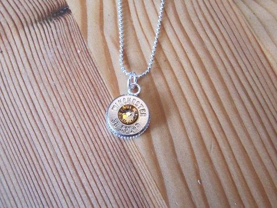 38 Special Bullet Necklace with Colorado Topaz