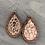 Thumbnail: Rose Gold Leopard Cork and Wood Teardrop Earrings