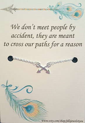 Crossing Paths Friendship Necklace
