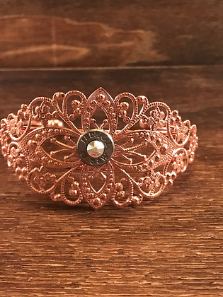 Rose Gold Cuff with 40 Caliber Bullet