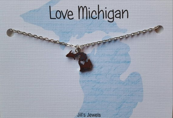Michigan Charm Necklace
