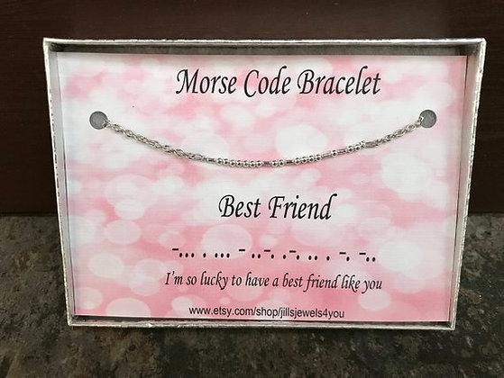 Morse Code Bracelet- Best Friend