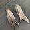 Thumbnail: Rose gold rain Stacked Fringe Feather Earring