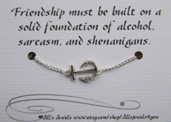 Solid Foundation Friendship Anklet