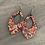 Thumbnail: Bright Rainbow Floral Cork Teardrop Earring