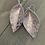 Thumbnail: Rose Gold Leopard Print Leather Earrings