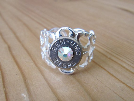 Bullet Ring- 38 Special Ultra AB Crystal