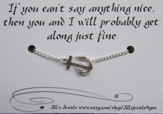 Can't Say Anything Nice? Friends Anklet
