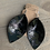 Thumbnail: Black Camo Silver Accented Leather Earrings