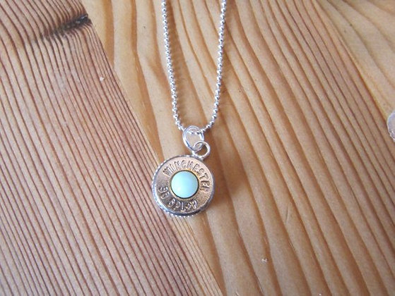 38 Special Bullet Necklace with Mint Swarovski
