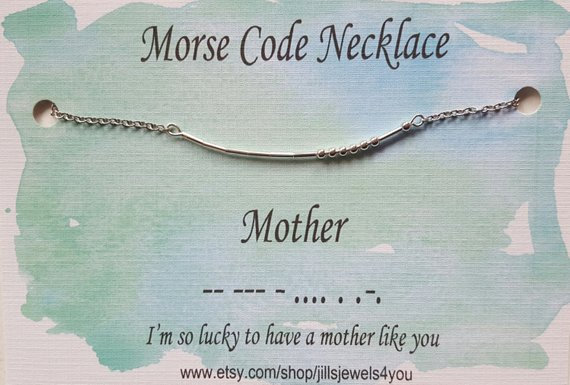 Morse Code Necklace- Mother