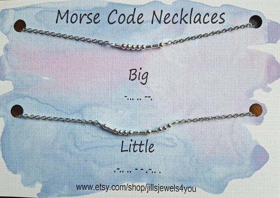 Morse Code Necklace- Bit Little Set