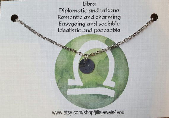Zodiac Astrology Necklace-Libra
