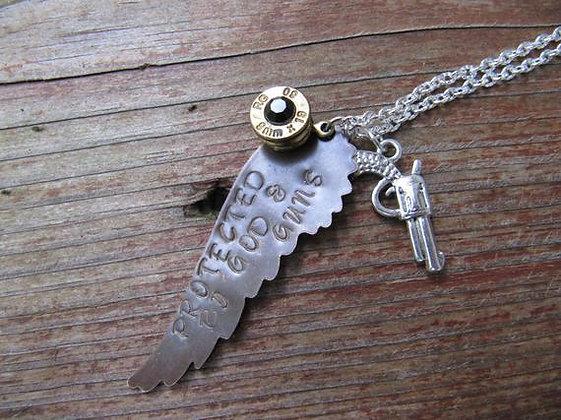 God and Guns Bullet Necklace