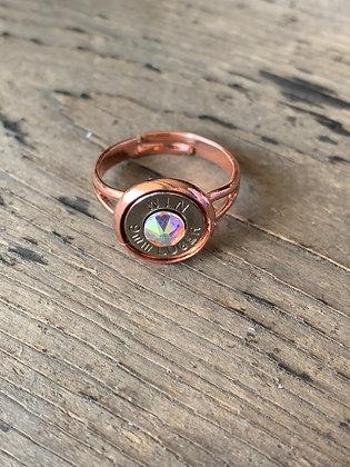 Rose gold 9mm ring