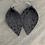 Thumbnail: Grey Mini Leopard  Leather Earrings