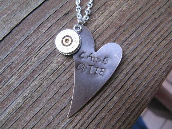 Camo Cutie Copper Heart .357 Special Necklace