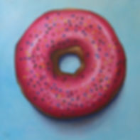 Amy Fell, original painting, donut