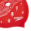 Thumbnail: BONNET DE BAIN SILICONE SLOGAN PRINT RED - SPEEDO
