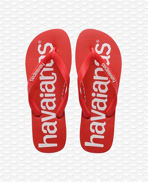 TONGS TOP LOGOMANIA ROUGE - HAVAIANAS