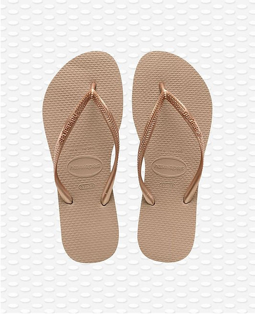 TONGS SLIM ROSE DORÉ  - HAVAIANAS