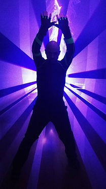 Laser man show Napoli