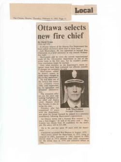 Ottawa selects new fire chief