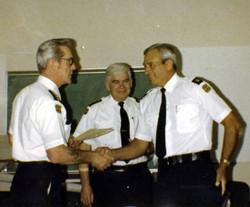 86 Eddy Tremblay with Fire Chief McLennan