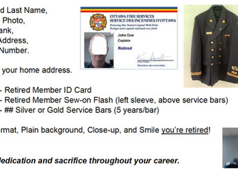 Retired Members of the OFS Personal ID Cards