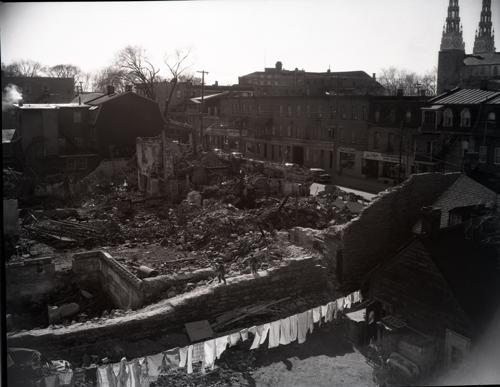 1957 Jan 2 Debris from market fire