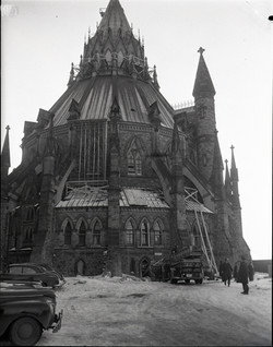 1954-03-17 Fire Parliament Library