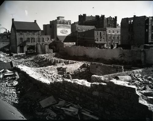 1957 Debris from Market Fire