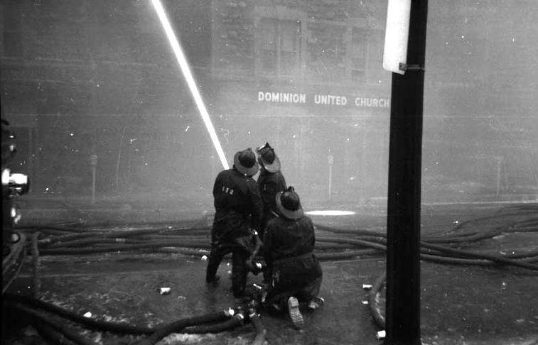 Ottawa Fire Department Dominion Methodist Church fire in 1961.