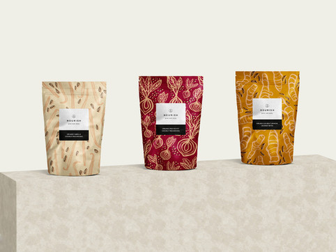 Nourish Branding, Packaging & Illustration