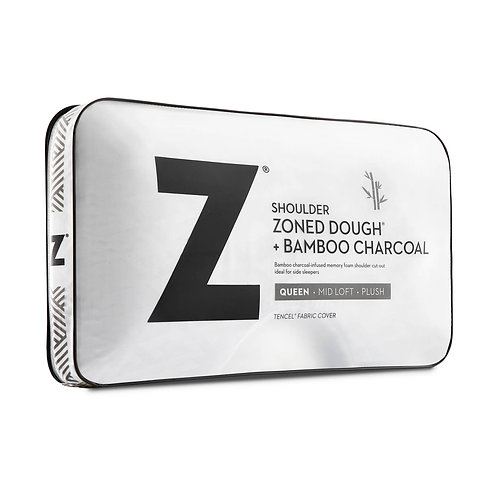 Z™ Shoulder Zoned Dough® Queen Pillow with Bamboo Charcoal