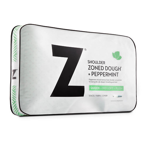 Z™ Shoulder Zoned Dough® Memory Foam Pillow King With Peppermint