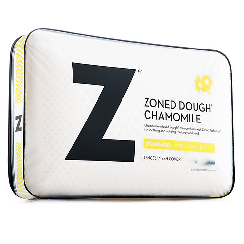 Zoned Dough® Memory Foam Queen Pillow With Chamomile