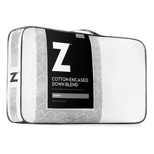 Cotton-encased Down Blend King Pillow