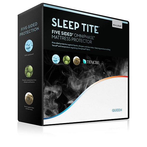 Five 5ided® Split King Mattress Protector with Tencel® + Omniphase®