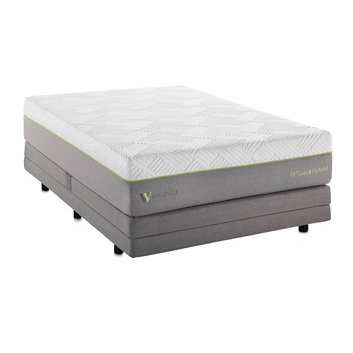 14 Inch Latex Hybrid Split California King Mattress