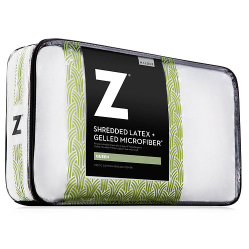 Shredded Latex + Gelled Microfiber® Queen Pillow