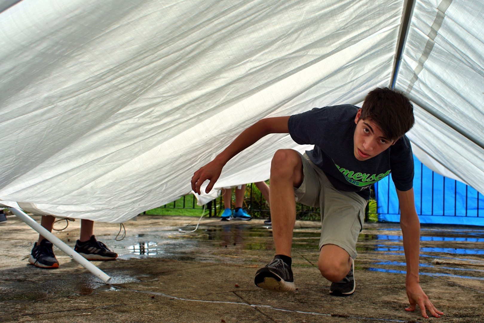 Setting the Tent