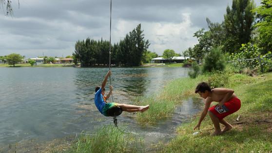 Swinging on the Lake