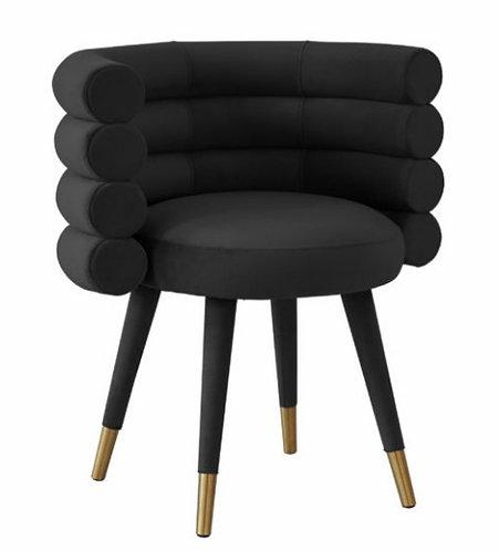 Black Velvet Laddered Arch Dining Chair