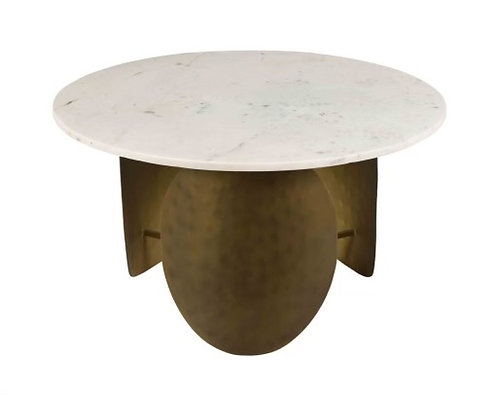 Pharaoh White Marble Cocktail Table