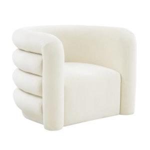 Cleo Cream Velvet Lounge Chair