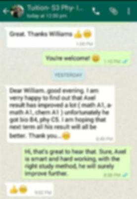Potong Pasir Tuition | Testimonial 1